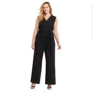 Plus size Lace Trim Jumpsuit